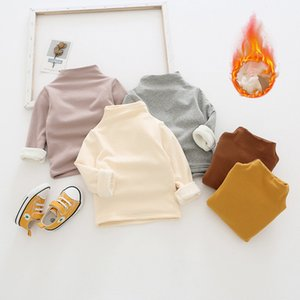 5 Colors Baby Girl Boy Undershirt Long Sleeve Winter Warm Thick Top Kid Thermal Fleece Underwear