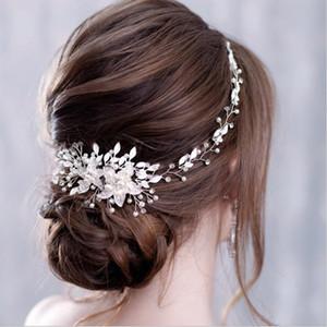 Pearls Gold Argento Accessori da sposa Bridal Hearwear Galliny Crystal Hair Pettine Elegante Banchetto Zepi per le donne AL7773