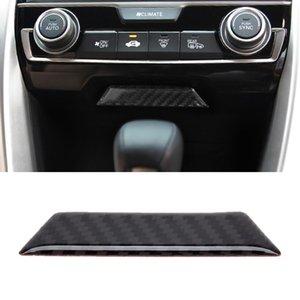탄소 섬유 트림 중앙 제어 기어 Shift Panel Honda Civic 10th Gen 용 장식용 스티커