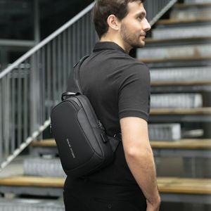 Mark Ryden Multifunction Crossbody Men Bags Waterproof USB Charging Sling Pack Short Trip Messengers Shoulder Bag Male 201128