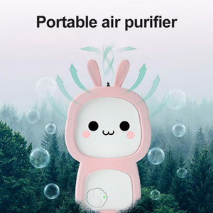Cute Cartoon Mini Air Purifier for Kids Negative Ion Portable Necklace Purifier Household For PM2.5 Formaldehyde Smoke Interior Accessories