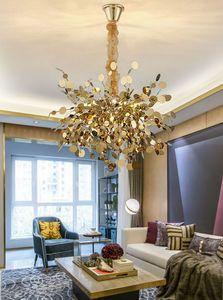 Modern Branch chandelier lighting DIY Nordic design Gold stainless chain lamp living room dining room bedroom led light fixtures