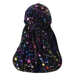 NOUVEAU Durag HIP-HOP BANANNA CAPAP RAPPER Floral Turban Chapeau Velvet Femmes Spandex Du-Rag Long queue Headwear