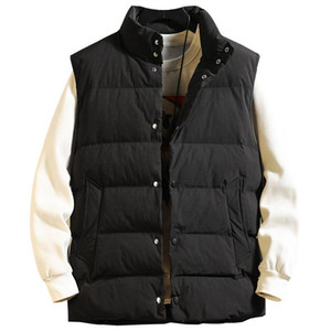2020 New Vest Jackets Mens Japanese Fashion Brand Hand Stuffed Cotton Stand Collar For Jacket Coat Men Big Size M-5XL