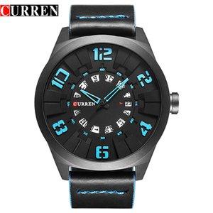 Curren Mens Watches Top Brand Luxury Quartz Men Watch Fashion Casual Sport Male Clock Wristwatch Waterproof Leather Strap Watch 8258