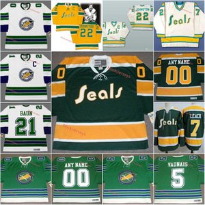 Mens Juventude personalizada Oakland Seals Jersey GARY SMITHHARRY HOWELL ivan boldirev Carol Vadnais Bobby Baun California Golden Seals Jersey S-5XL