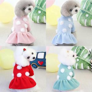 2020 cute new pet dog skirt Pomeranian Bichon woolen skirt dog warm autumn and winter new pet clothes clothes