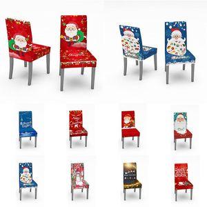 Weihnachten Spandex Hussen Schoner Covering Multicolor Stuhlkissen staubdicht dekorative Sitzabdeckung Haus-