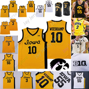 Custom 2020 Iowa Hawkeyes Jersey Basketball NCAA College Luka Garza Joe Wieskamp CJ Fredrick Bohannon Connor McCaffery Ahron Ulis