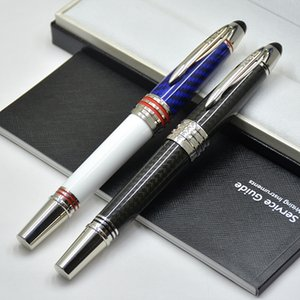 Top Luxury Mt Pen Limited Edition John F. Kennedy Fibre de carbone Fibre de rouleaux en fibre de rouleaux à billets de bille Billets d'écriture de bureau avec numéro de série JFK