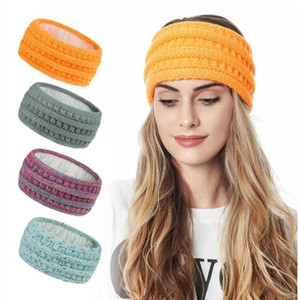 Knitted Headbands Women Winter Sports Hairbands Turban Yoga Head Band Ear Protect Muffs Cap Headbands 20 colors Hair Accessories ZYY44