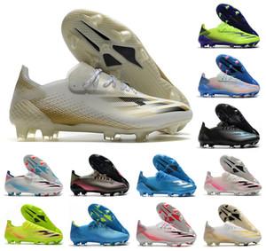 2021 Nouveau X Ghosted.1 Précision à Blur FG Mens Femmes Garçons Ghosted .1 Chaussures de football de football de football de football Bottes de football Taille US 6.5-11