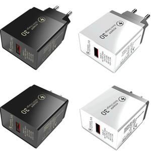 Wholesale High Quality QC3.0 Usb 5V 9V 12V Wall Power Adapter Quick Charger with EU US Plug for Iphone Xiaomin Huawei Mobile Phone