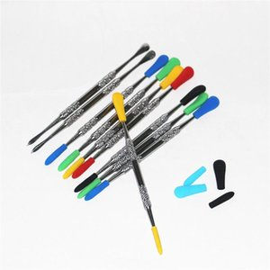 Electronic Cigarette Wax Daber Tool with silicone tips Stainless Steel Silicone Concentrate Dabber Tool Wax Dry Ego Dry Herb Daber Tool WB31