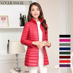 3XL Winter Ultra Light Down Jacket Women Fashion Casual 90% White Duck Down Jacket Plus Size Long Coat Waterproof Parka