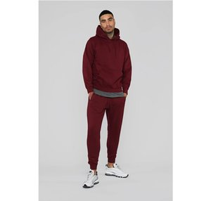 Winter Sweatsuit Pants Hoodies Long Casual Tracksuit 2020 New Designers Color Autumn Fashion Mens Solid Tracksuits Blshx