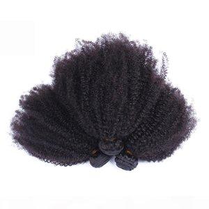 Moğol Afro Kinky Kıvırcık Saç Örgü Demetleri Doğal Renk 100% İnsan Saç Remy Olmayan Saç Dokuma