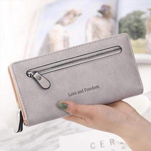 Hot Sale Luxary Mulheres Carteiras Cartão Titular da forma da senhora bolsas Bolsas dinheiro Coin Purse Mulher Clutch longo Zipper Wallet Burse Bags bolso