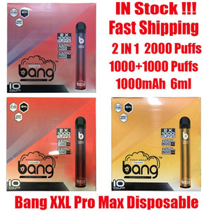 Bang XXL Pro Max Switch Disposable Device Kit 2 IN 1 Vape 6ml Pods 2000 Puffs 1100mAh Battery XXtra Double Pen Ezzy Super
