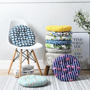 Assento macio Cushion Pad Thicken Round Square Escritório Classroom Chair Assento Almofadas cores Impresso Sofa Pillow Nádegas Presidente FWF3072 Cushion