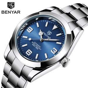Top Brand BENYAR Men Automatic Watch 50M Waterproof Sport Mechanical Wrist Watch Man Stainless Steel Male Clock Reloj Hombre New B1205