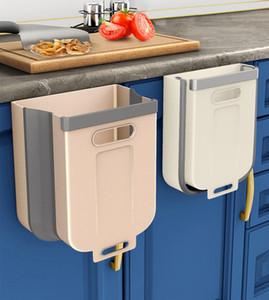 متعدد الوظائف قابلة للطي النفايات القابلة للطي بن مطبخ شنقا القمامة يمكن خزانة الباب شنقا سيارة القمامة القمامة بن لغرفة النوم الحمام