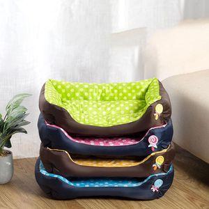 Confortevole Dog Dog Cat Bed Pet Divano Letto Oxford Panno Stampad Lollipop Casa per dormire Teddy Kennel Nido per cani Cat Pet Forniture
