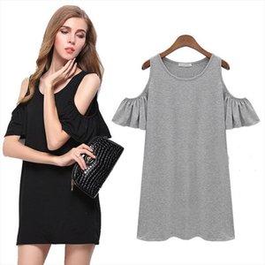 New Black Grey Summer Dress Solid Loose Women Dresses Hot Sale O neck Ladies Beach Dress Casual Mini Vestido