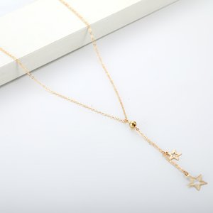 Fashion trend personality simple five pointed star necklace for women in Europe and the United States