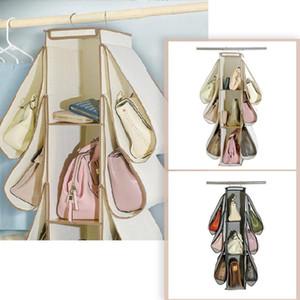 top selling 2021 Handbag Organizer Wardrobe Closet Organizer 9 Pockets Hanging Storage Bag Support Wholesale and Dropshipping