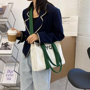 Hit Colour Shoulder Messenger Bag Women Handbags Totes Bags Fashion Casual Canvas Crossbody Bags Clutch Bag