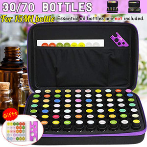 30 70 Bottles Essential Oil Case 15 ML Perfume Oil Essential Box Travel Portable Carrying Holder Nail Polish Storage Bag