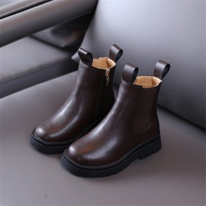2020 New Autumn Girls boots Genuine Leather Fashion Kids Boots Rubber Sole Comfortable Children's Boots High Quality