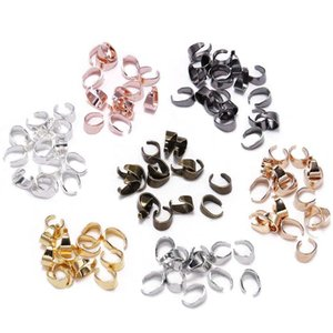50pcs lot 7 Color Pendant Clips Pinch Bail Clasps Buckle Charm Necklace Hook Connector For Diy Jewelry Making Cameo Tray bbyenn