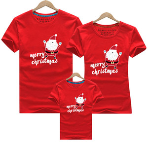 Family Clothing 2020 Christmas Snowman Print Kid T-shirts Mommy and Me Clothes Mother Daughter Father Family Matching Outfits