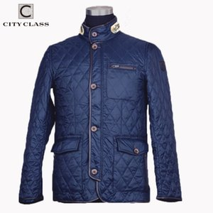 CITY CLASS New Spring Autumn Mens Coat Quilted Jacket Business Casual Fashion Bomber Jacket Coats for Male 8006 201119