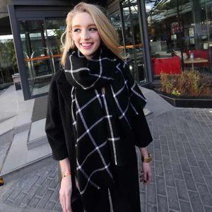 Winter Scarf 2020 Tartan Cashmere Scarf Women Plaid Blanket Scarf New temperament Shawls Women's Scarves And Wraps