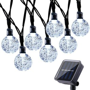Solar LED lamp string star bubble ball outdoor waterproof lamp Christmas day decorative lights Party Supplies T2I51625