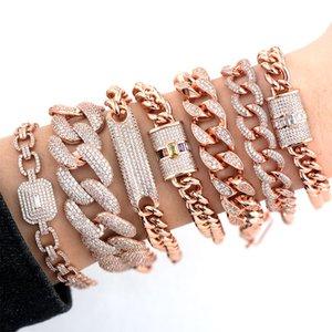 Fashion Jewelry Bangles GODKI Luxury Chunky Link Bracelet For Women Wedding Full Cubic Zircon Crystal CZ Dubai Bracelet Party Jewelry 2020