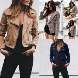 6RB Faux Sıcak Kadın Kış Kürk Yaka Kadın Denim Ceket Kaban Büyük Cep Kuzey FA Kuzu Ceket Bayanlar Ceketler Kalın Gevşek Denim Mont