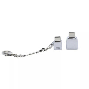 Mobile Phone Type-c to USB adapter Cell Phone Zinc Alloy Type-c OTG Converter with Keychain