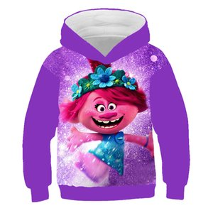3D Kids Troll Hoodies movie TROLLS WORLD TOUR Print baby boy clothes 2021 New autumn Clothes Long sleeve Hairy elf Baby tops