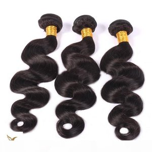 The New On Sale Virgin Brazilian Body Wave Hair Weave 100% Brazilian Human Remy Off Black Hair Extension 6A Unprocessed Hair