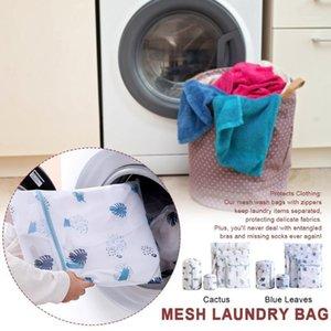 5pcs set Underwear Socks Mesh Laundry Bag Portable For Washing Machine Bathroom Reusable Home Travel Protect Clothing Cute Print1