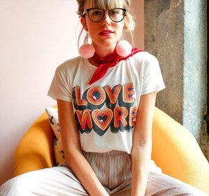 Summer Love More Letters Sweet Style Casual white Tshirts Vintage 80S 90s Graphic Cotton Tees Plus Size Ins Fashion Tshirt Women