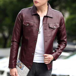 Winter Leather Jackets For Men New Fashion Jacket Biker Motorcycle Zipper Long Sleeve Coat Top Blouses Button Man Jacket Parkas