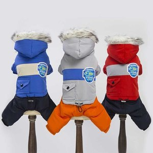 Warm Dog Clothes Bulldog Autumn Winter Dog Coat Jacket Windproof Pets Clothing For Small Medium Dogs Puppy Outfit Pet Jumpsuit 201102