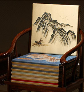 Прекрасный вышитый живописный стул сиденья подушка подушки диван колодки офисный дом декоративный китайский шелковый атласный кресло нескользящая подушка