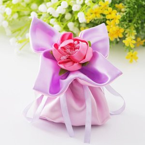 European personality creative wedding party brocade four leaves favor bags gift bag candy bag jewelry package