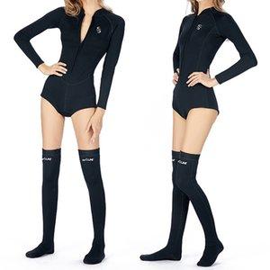 2 mm en néoprène super élastique chaud en une seule pièce Bikini séchage rapide pour les femmes Wetsuit, avec chaud plongée Stocking